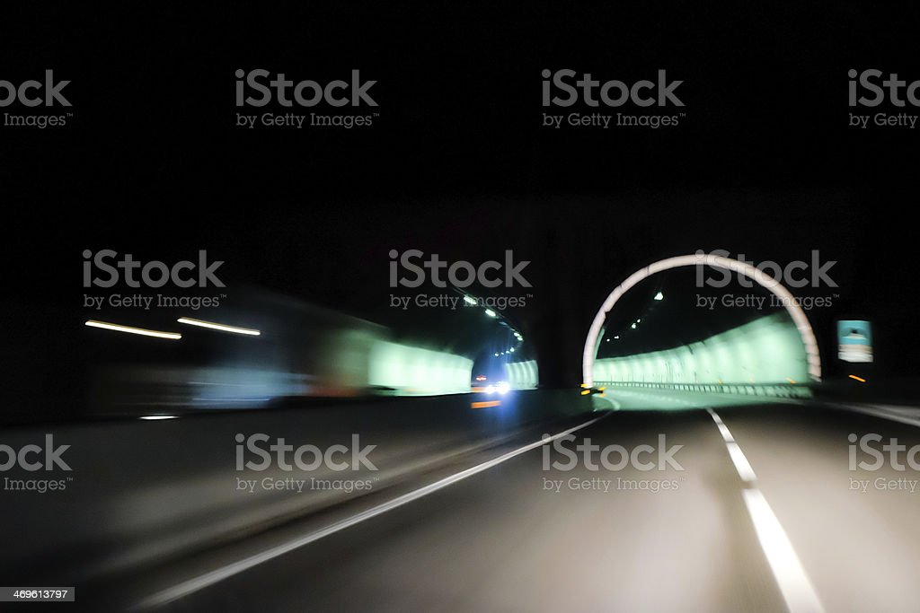 Tunnel in time royalty-free stock photo