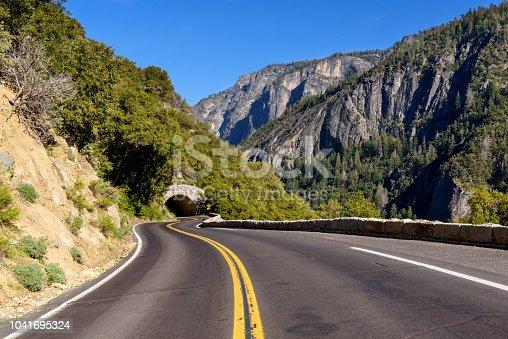 Tunnel in to the mountain in Yosemite ,Yosemite National park,California, USA.