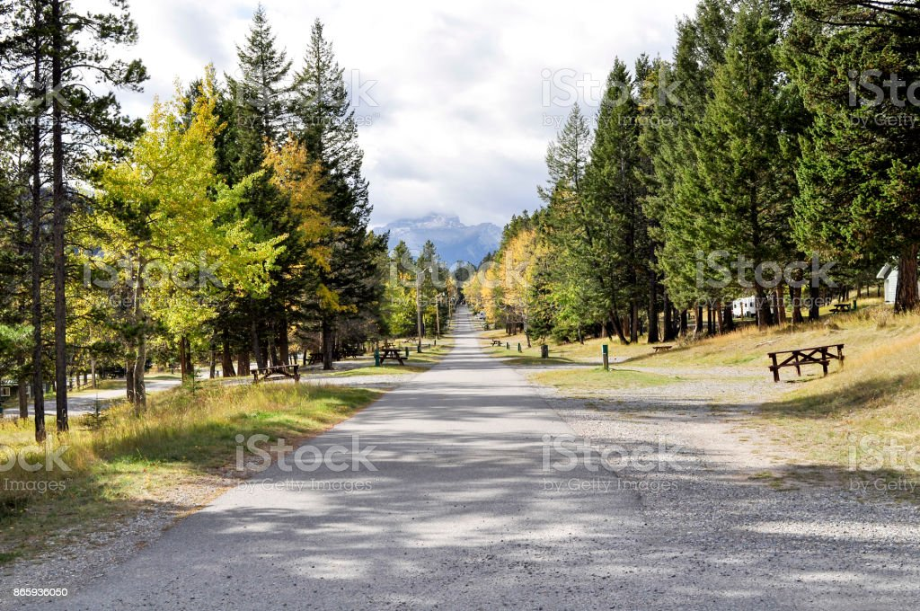 Tunnel Mountain Campground Stock Photo - Download Image Now