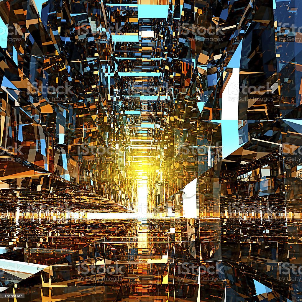 Tunnel of glass royalty-free stock photo
