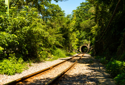 Tunnel of the railway