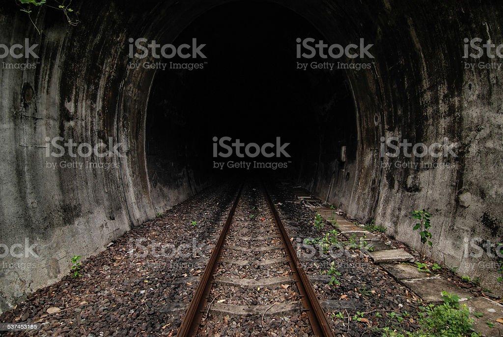 Tunnel of the railway stock photo