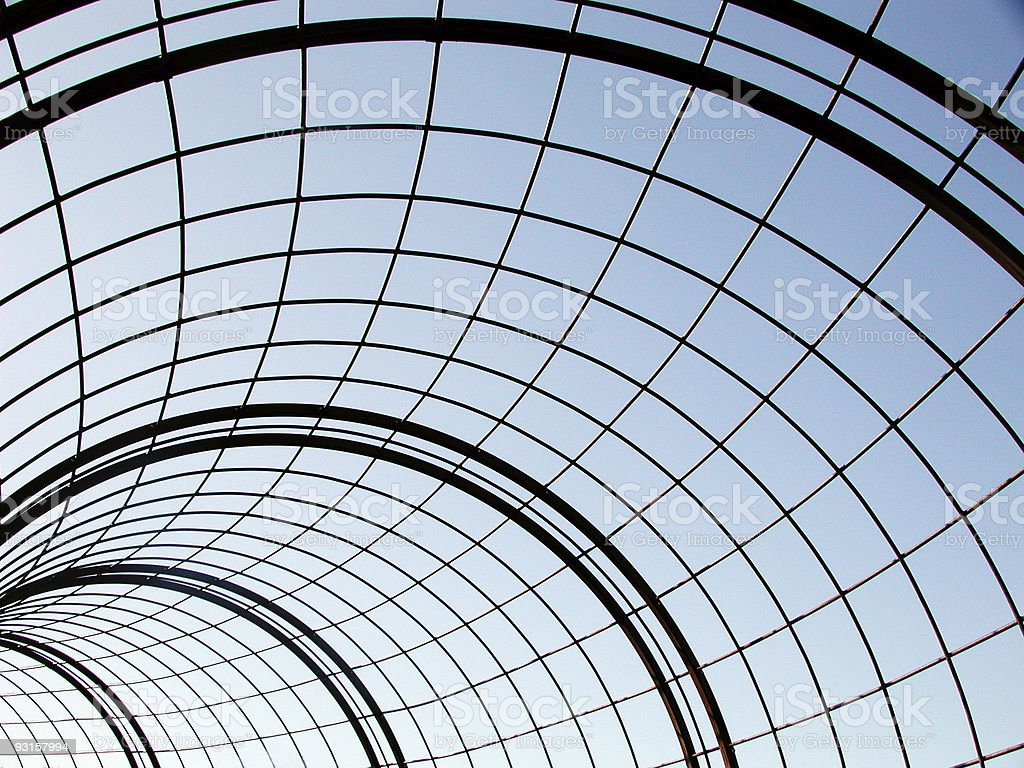 Tunnel of Wire royalty-free stock photo