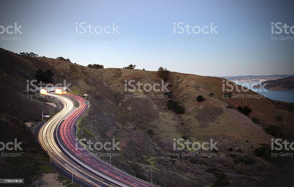 Tunnel on a Highway royalty-free stock photo