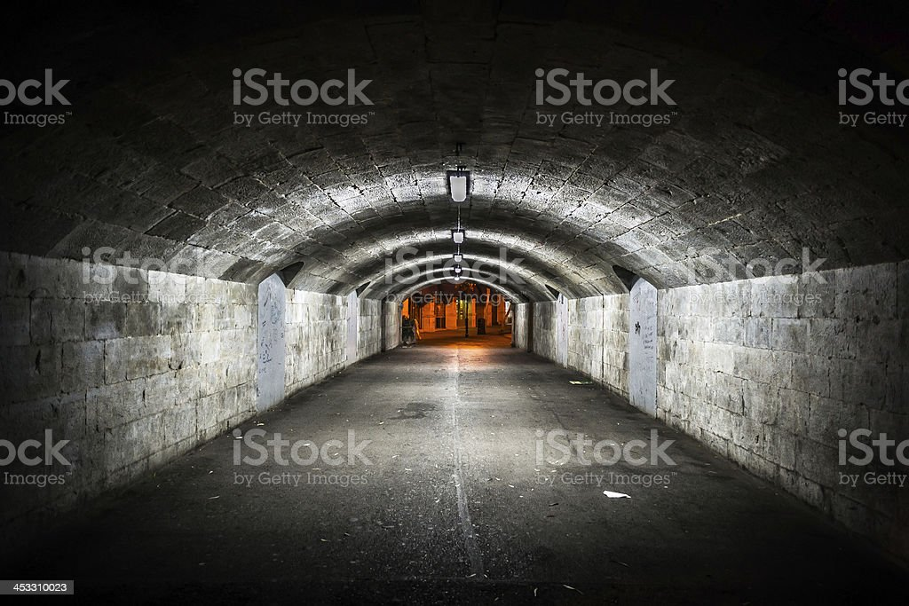 Tunnel passage in GIbraltar royalty-free stock photo