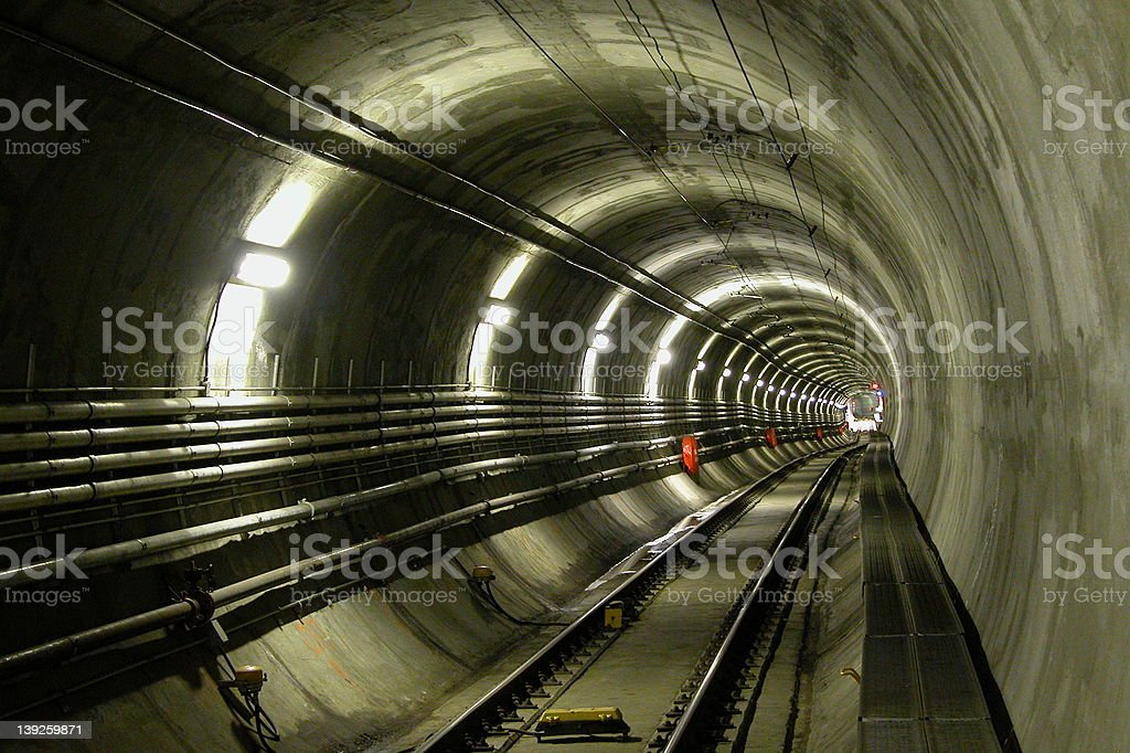 LRT Tunnel royalty-free stock photo