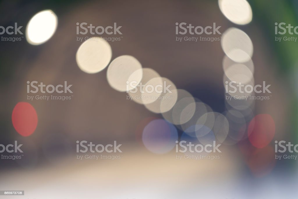 Tunnel Road Blurred background stock photo