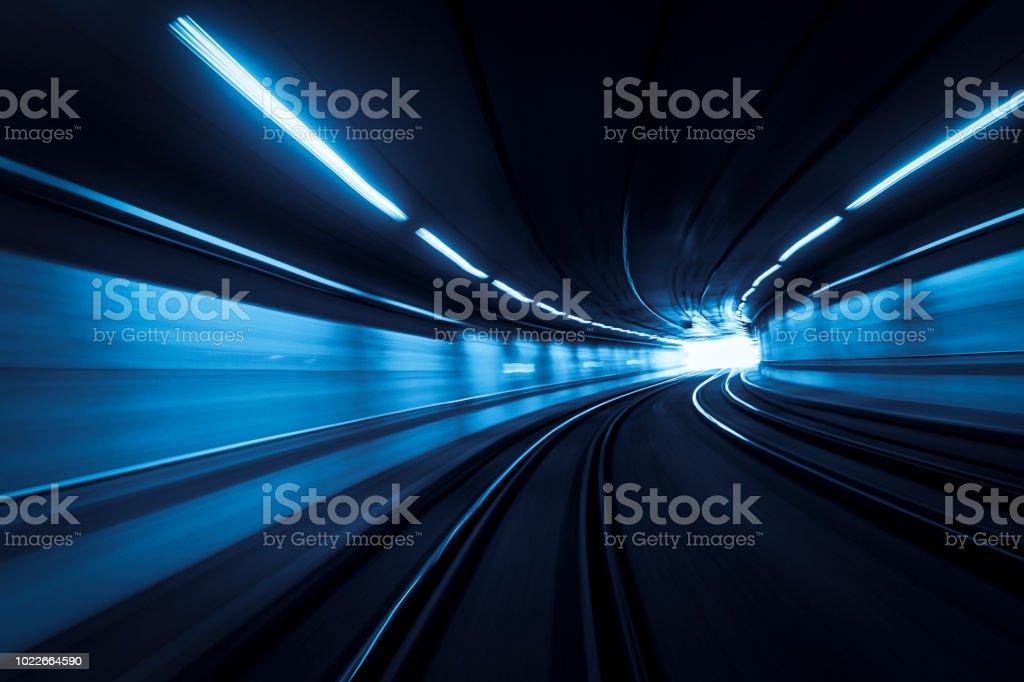 Tunnel-motion light Wanderwege – Foto