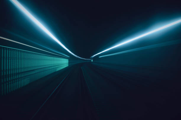 Tunnel speed motion light trails Tunnel speed motion light trails light natural phenomenon stock pictures, royalty-free photos & images