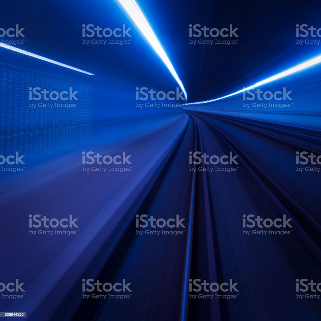 Tunnel Speed Motion Light Trails Stock Photo More Pictures Of Lighting Diagram Royalty Free