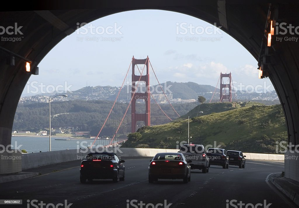 Tunnel to the Gate royalty-free stock photo