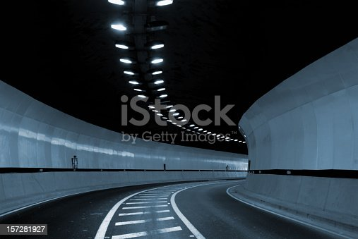 Interior of an urban tunnel without traffic.