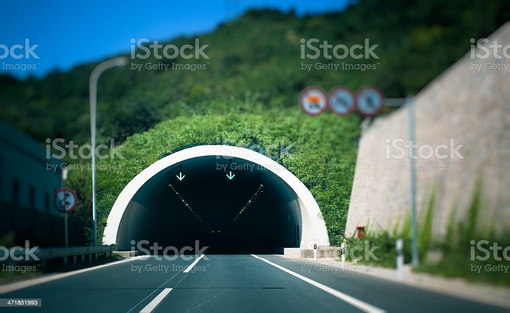 tunnel to the unknown stock photo