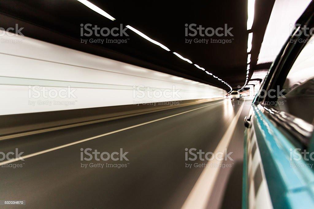 Tunnel Traffic stock photo