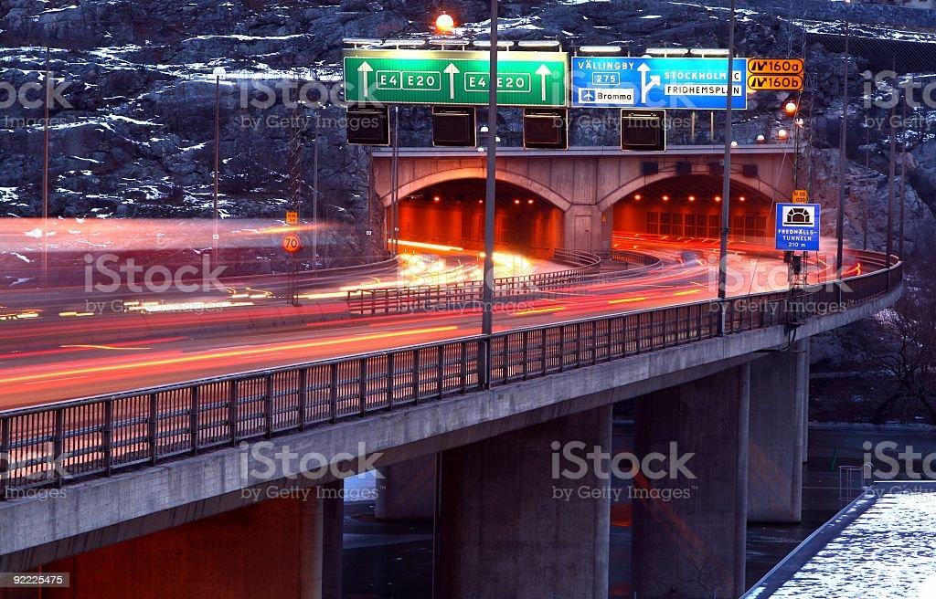 Tunnel Traffic royalty-free stock photo