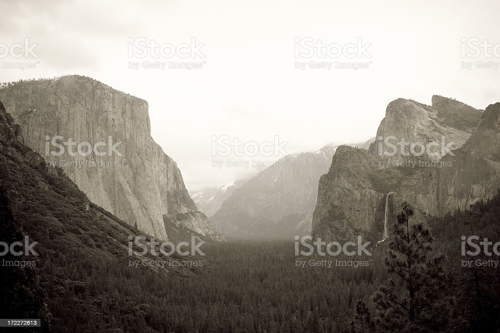 Tunnel View at Yosemite royalty-free stock photo