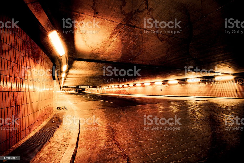 Tunnel view in a grunge look royalty-free stock photo