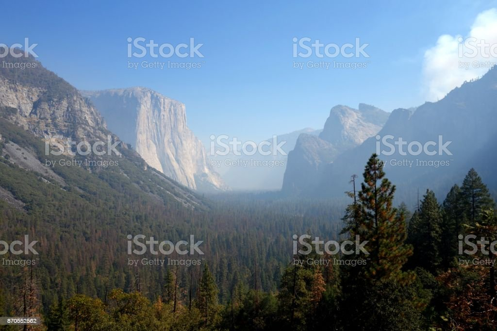Tunnel View in Yosemite National Park stock photo