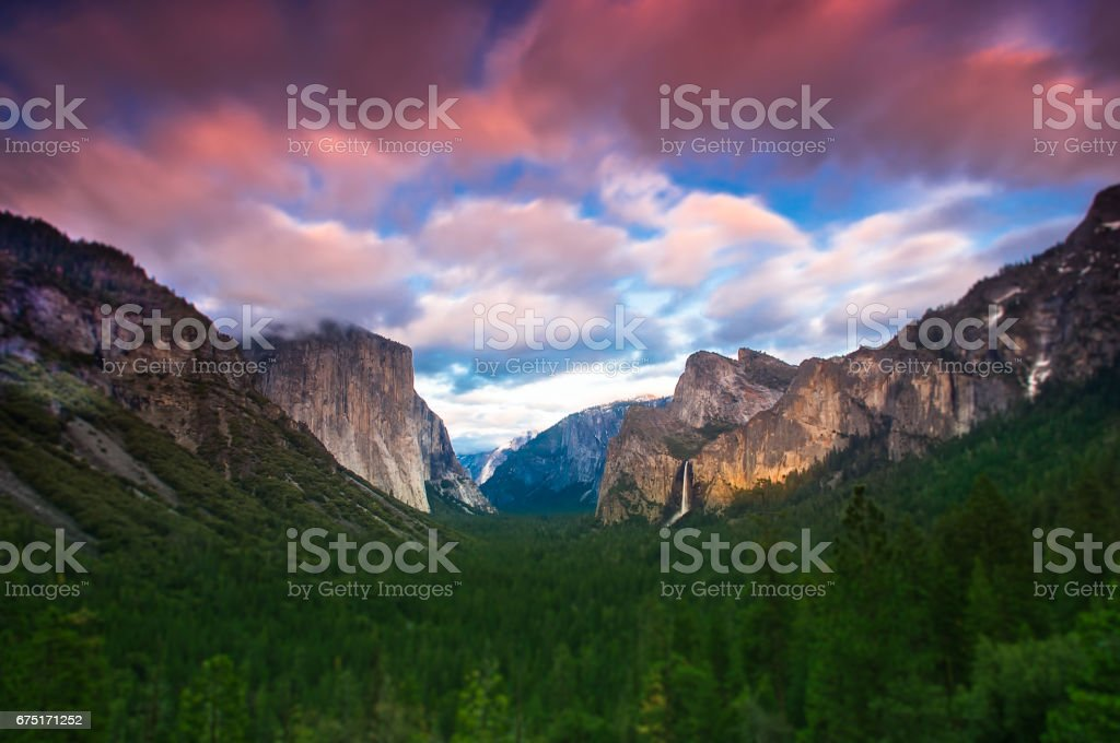 Tunnel View of Yosemite stock photo