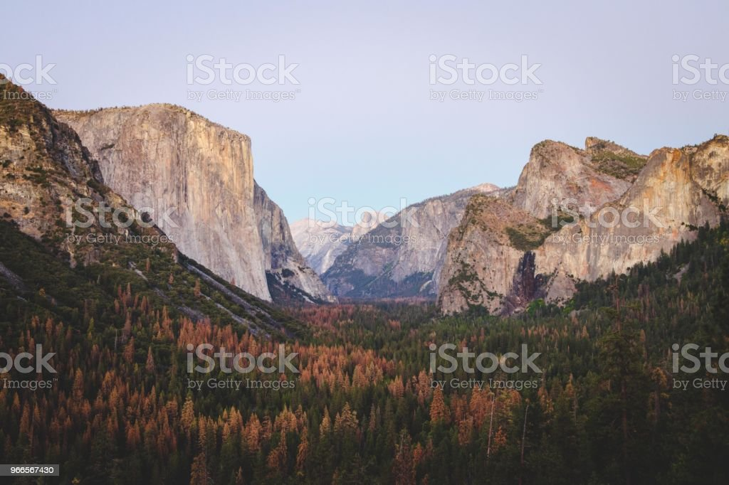 Tunnel View stock photo