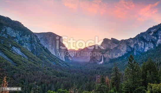 Tunnel View Sunrise, Yosemite National Park ,CA