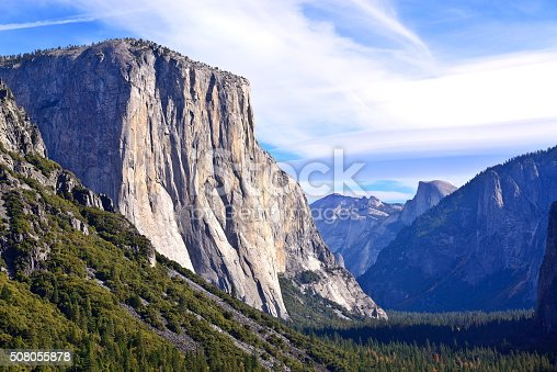 Tunnel View is a scenic overlook in Yosemite National Park.