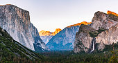 Tunnel View at sunset Yosemite National California