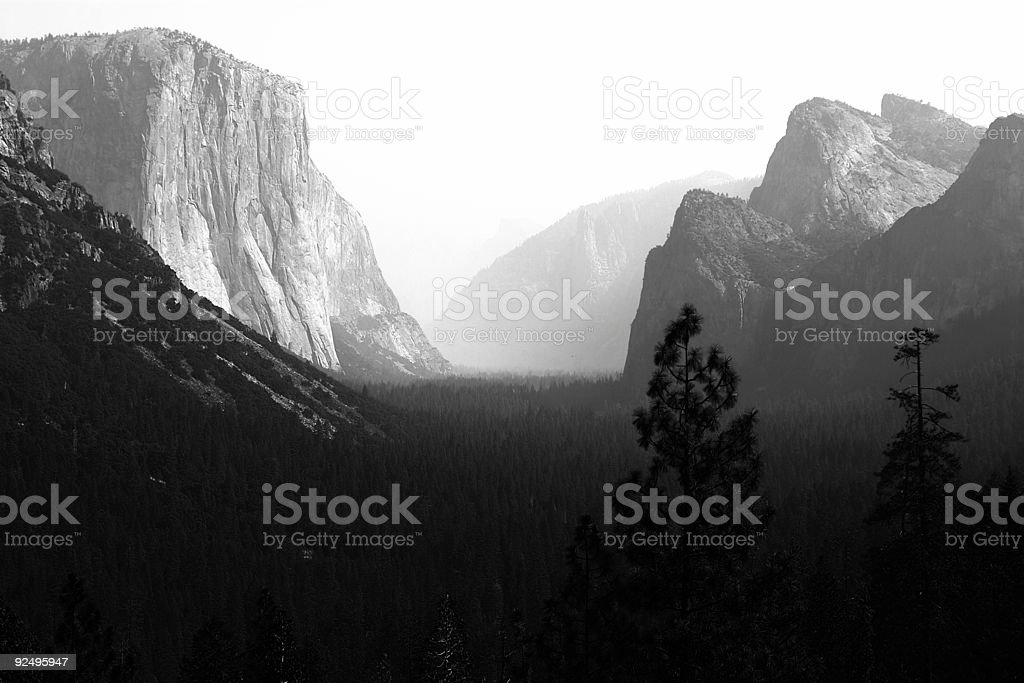 Tunnel View, Yosemite National Park royalty-free stock photo