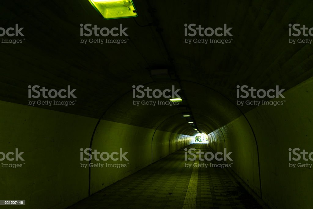 Tunnel with a view of the exit Lizenzfreies stock-foto