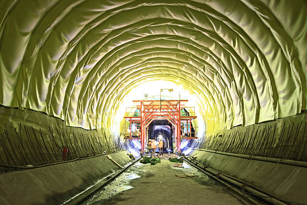 Tunneling Works stock photo