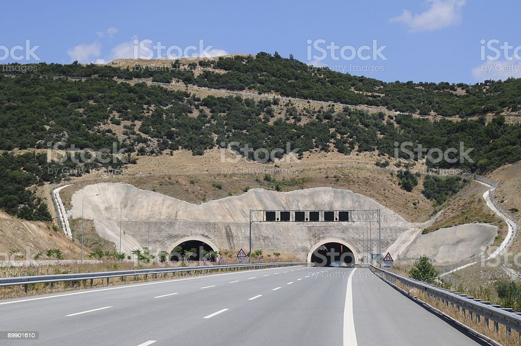 Tunnels at the road royalty-free stock photo