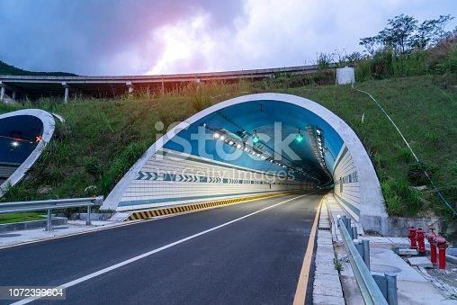 Tunnels on freeway