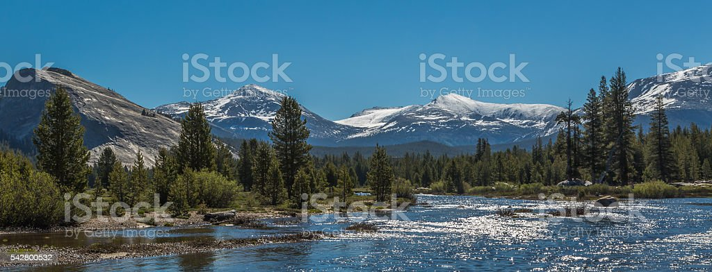 Tuolumne river stock photo