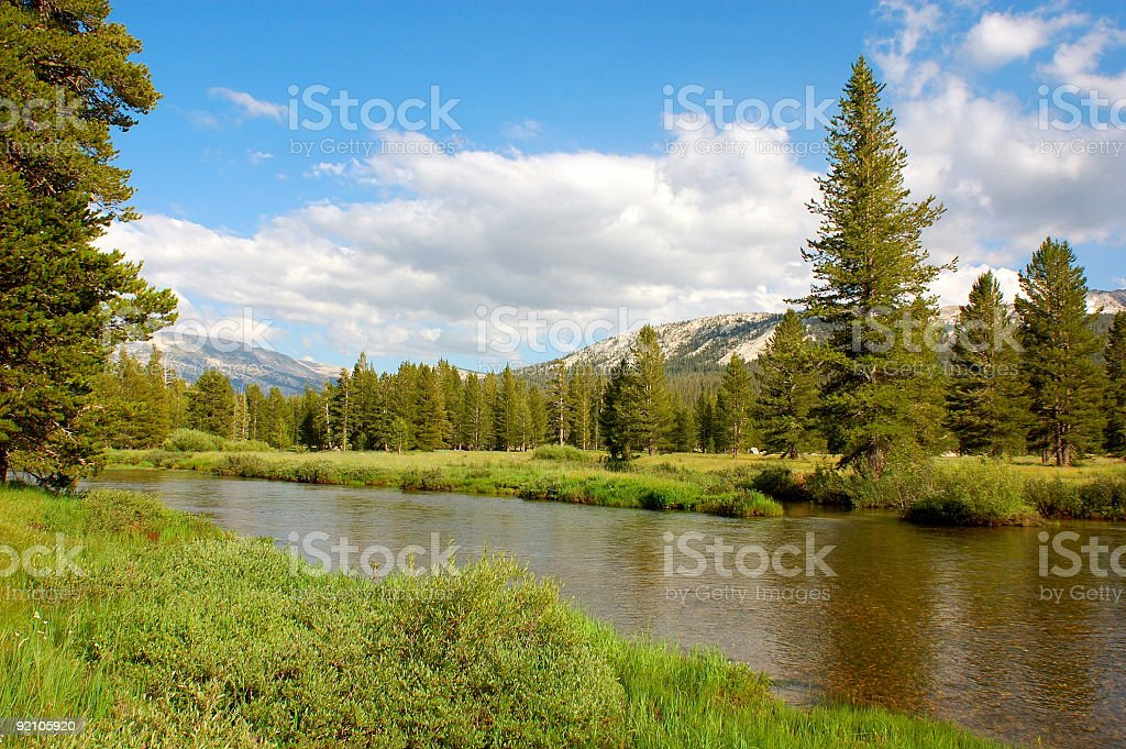 Tuolumne River royalty-free stock photo