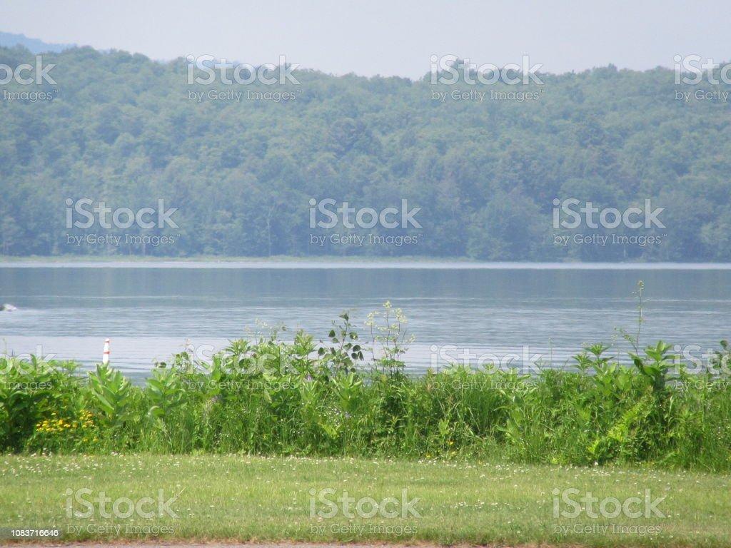 Tupper Lake NY Scenic View stock photo