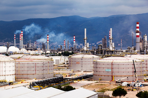 Izmit, Turkey - June 22,2015 :Tupras Izmit petroleum refinery. Tupras is Turkey's largest oil refinery.