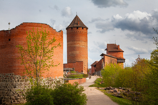 Turaida Castle in Sigulda at spring, Latvia