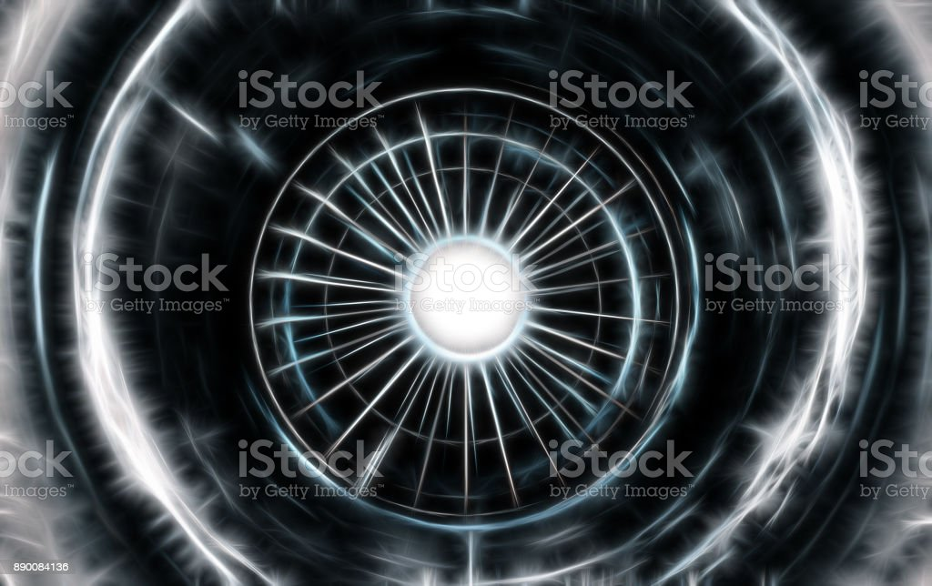 Turbine aircraft, jet plane fractal image stock photo