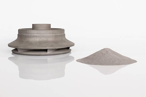Turbine und Metall-powder – Foto