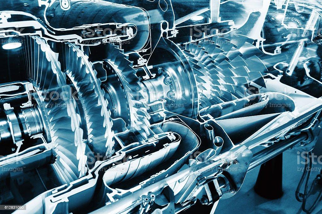 Turbine Engine Profile.  Aviation Technologies. stock photo