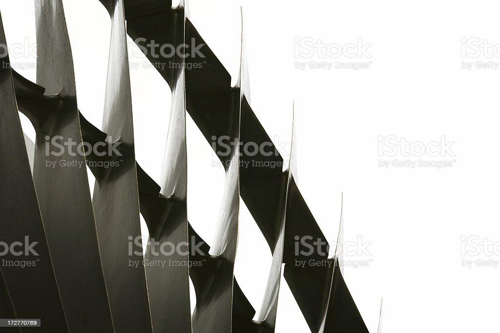Turbine Fan Blades stock photo