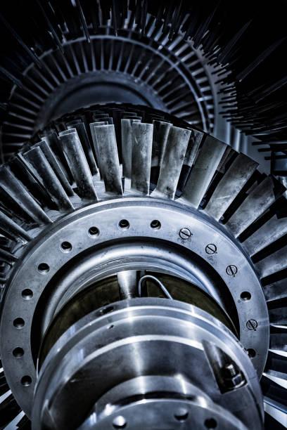 Turbine in reparation process stock photo