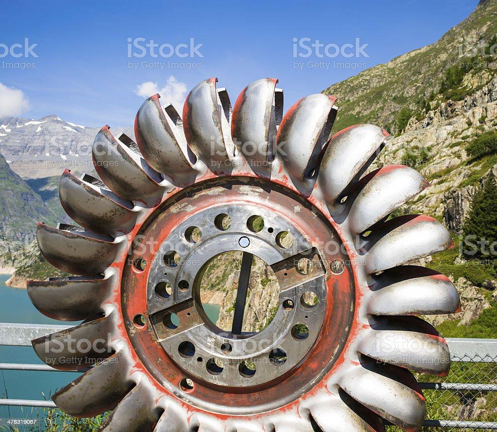 Turbine Pelton stock photo