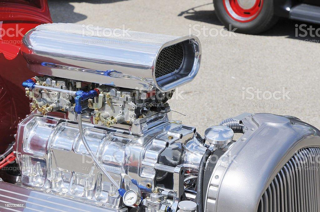 Fotografía de Turbo Cobra Carburador Y Motor En Street Rod Automóvil ...