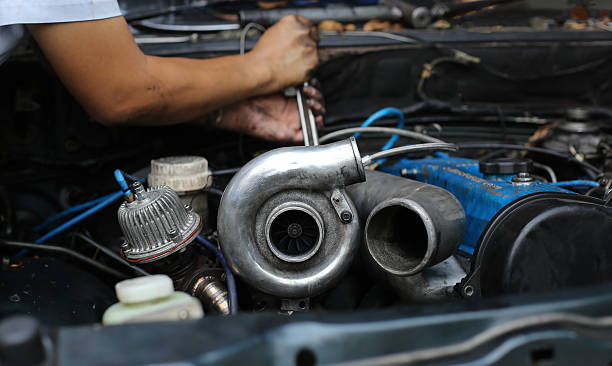 Turbo charger on car engine Turbo charger on car engine turbo  stock pictures, royalty-free photos & images