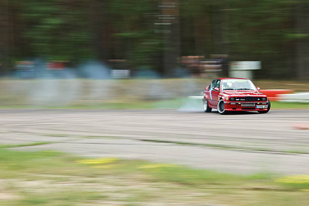 Turbo E30 drifting stock photo