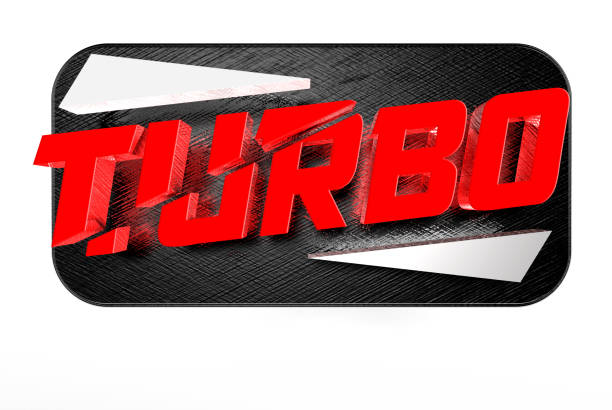 Turbo sign 3D. stock photo