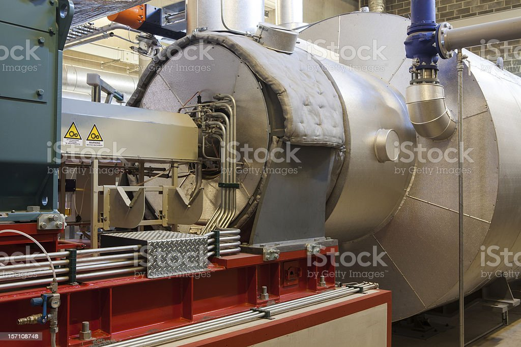 Turbogenerator stock photo