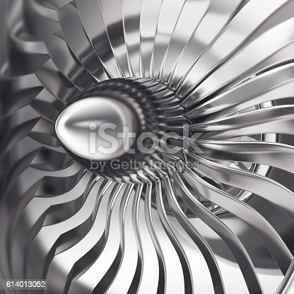 890084136 istock photo Turbo-jet engine of the plane, close up. 3d rendering 614013052