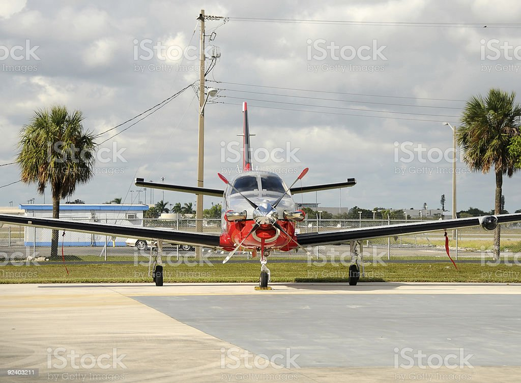 Turboprop airplane royalty-free stock photo
